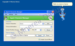 Agent Character Manager screenshot